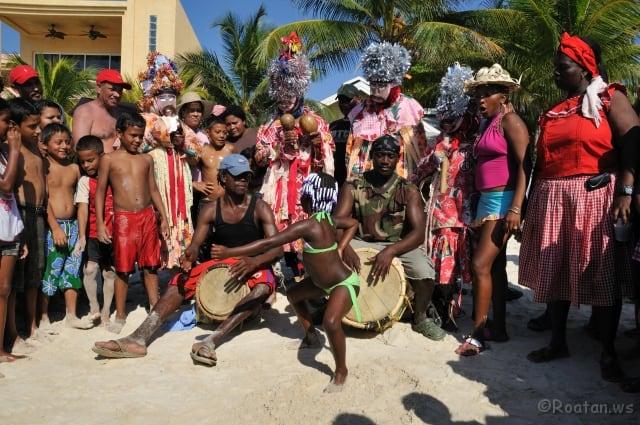 Garifuna Dancers Roatan
